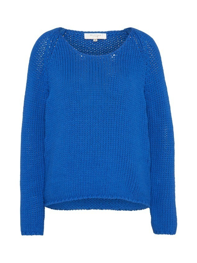 SELECTED FEMME Sweter 'KNIT WIDE' niebieski