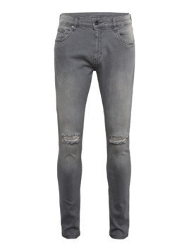 Urban Classics Jeansy 'Slim Fit Knee Cut Denim Pants' szary denim