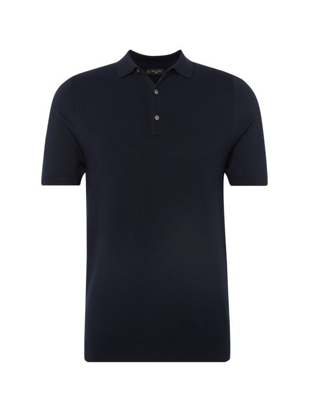 NEW LOOK Koszulka 'RP 1 27.10 MW SS SLIM FIT TEXTURED POLO' granatowy
