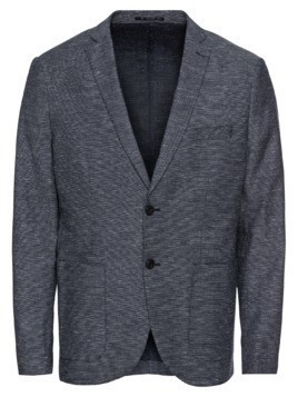 SELECTED HOMME Marynarka 'SHDONEVENICE CHECK BLAZER' granatowy