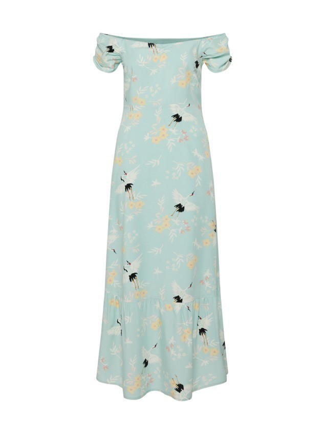 Mint&berry Sukienka koktajlowa 'gathered sleeve detail dress' miętowy