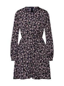 Boohoo Sukienka 'Floral Long Sleeve Skater Dress' czarny