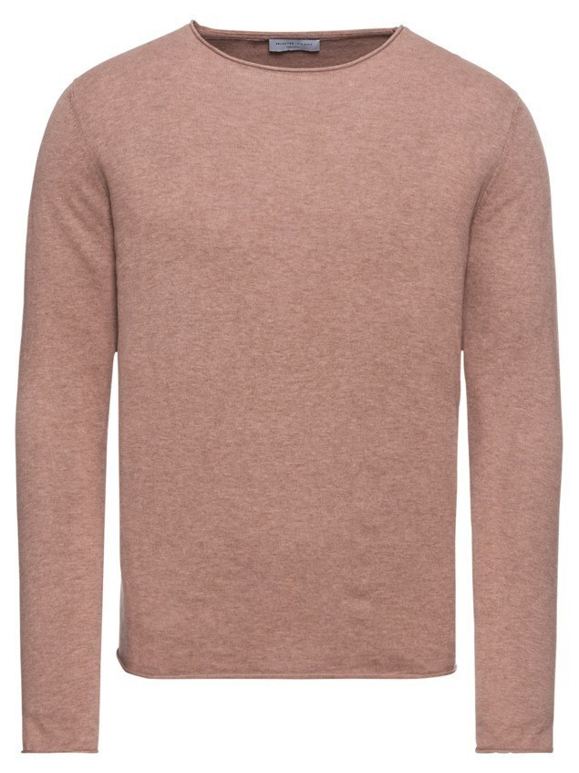 SELECTED HOMME Sweter 'SHDDOME CREW NECK NOOS' stary róż