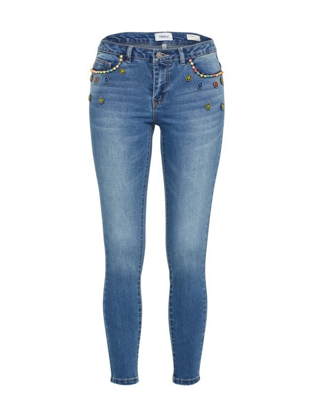 ONLY Jeansy 'CARMEN' niebieski denim