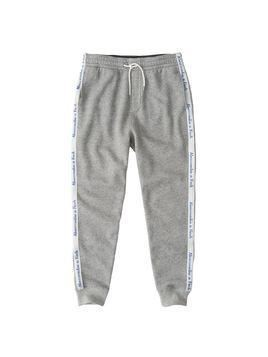 Abercrombie & Fitch Spodnie 'SIDE TAPE JOGGER GREY R02' szary