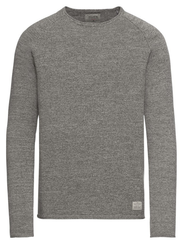 JACK & JONES Sweter 'jjvcUNION KNIT CREW NECK NOOS' nakrapiany zielony