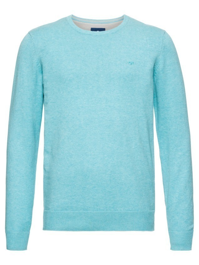 TOM TAILOR Sweter 'basic crew-neck sweater' jasnoniebieski