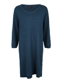 Zizzi Sukienka 'MCARRIE,L/S,DIAMOND DRESS' niebieski