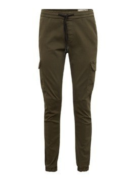 TOM TAILOR DENIM Bojówki 'cargojogger stretch twill' khaki