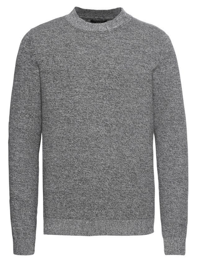 NEW LOOK Sweter 'RP 39 11.08 MW COTTON TURTLE NECK P' szary
