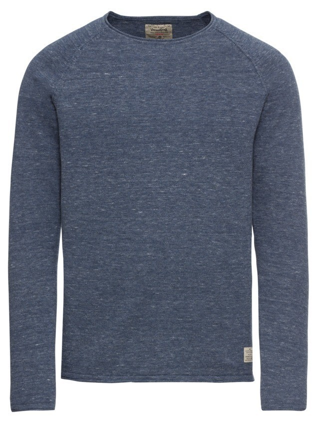 JACK & JONES Sweter 'jjvcUNION KNIT CREW NECK NOOS' niebieski