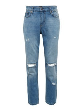 YOURTURN Jeansy 'TINTED BLUE TAPERED RIPPED' niebieski denim