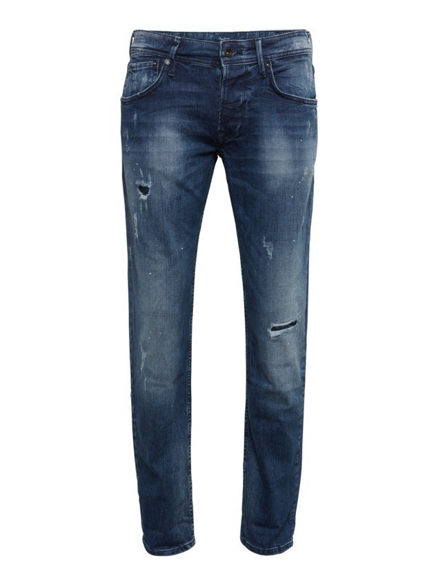 Pepe Jeans Jeansy 'CANE LAZERED BRAID' niebieski denim