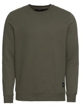 Only & Sons Bluzka sportowa 'onsBASIC SWEAT CREW NECK NOOS' ciemnozielony