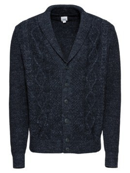 GAP Kardigan 'BUDDING CABLE SHAWL CARDI' granatowy
