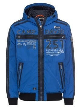 CAMP DAVID Kurtka zimowa 'Jacket with Hood' niebieski