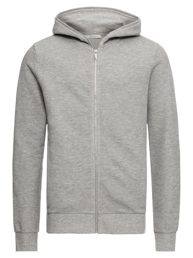 JACK & JONES Bluza rozpinana 'JPRCAMERON SWEAT HOODY' szary