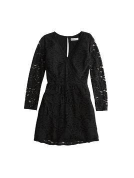 HOLLISTER Sukienka 'BTS18-NB LACE DRESS' czarny