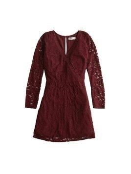 HOLLISTER Sukienka 'BTS18-NB LACE DRESS' burgund