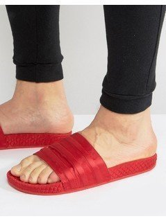 adidas Originals Adilette Slides In Red BB3112 - Red