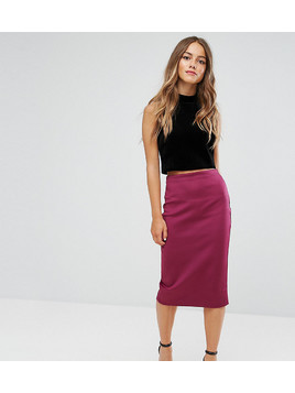 ASOS Petite Scuba Pencil Skirt - Purple
