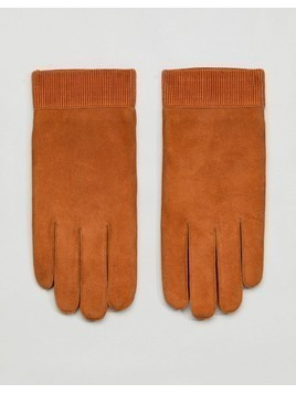 Weekday Leather Gloves - Brown