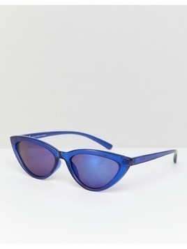 Weekday mini cat eye sunglasses in blue - Blue