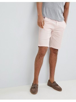 Clean Cut Slim Fit Chino Shorts - Pink