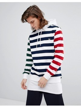 HUF Kennedy Hoodie With Contrast Stripes - White