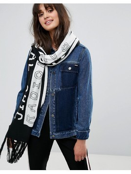 Monki Radical Chic Slogan Scarf - Multi