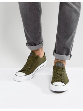 Converse Chuck Taylor All Star Ox Plimsolls In Green 157266C - Green