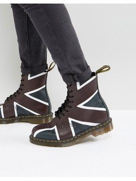 Dr Martens Pascal Brit 8 Eye Boots - Navy
