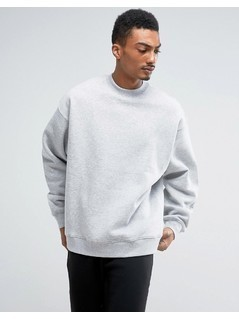 Weekday Big Steve Sweatshirt - Grey
