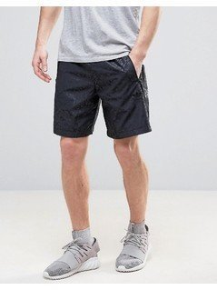 adidas Originals Ornamental Block Shorts In Jacquard Print CF5327 - Black