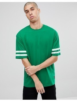 Only&Sons Oversized T-Shirt With Arm Stripe - Green