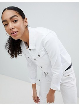 Noisy May Denim Jacket - White