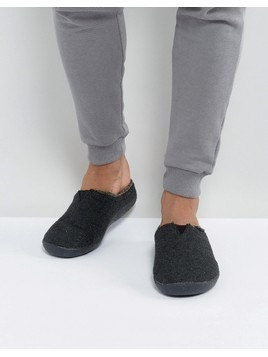 TOMS Berkeley Herringbone Slippers In Gift Box - Black