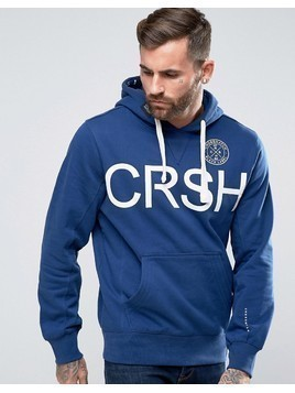 Crosshatch Logo Pullover Hoody - Blue