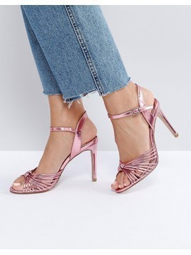 Faith Metallic Knot Sandals - Pink