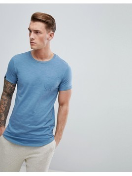 Produkt Longline T-Shirt With Curved Hem - Blue