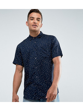 Only&Sons Skinny Short Sleeve Shirt In Viscose - Navy