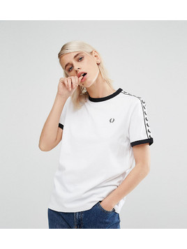 Fred Perry Archive Taped Ringer T-Shirt - White