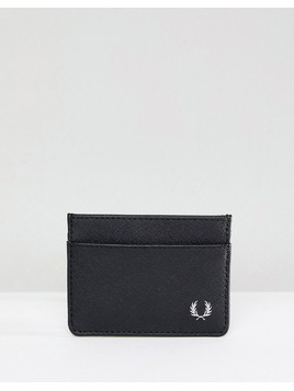 Fred Perry Saffiano Card Holder in Black - Black