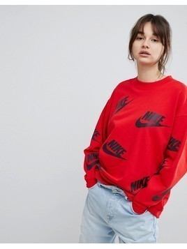 Nike Sweatshirt In All Over Futura Print - Multi