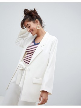 Monki Oversized Blazer - Cream