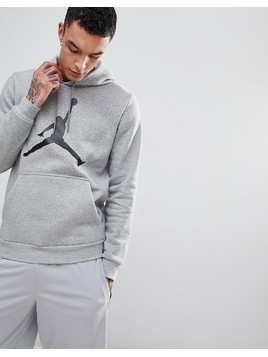 Nike Jordan Flight Fleece Pullover Hoodie In Grey AH4507-063 - Grey