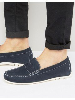 KG By Kurt Geiger Loafers In Navy Suede - Blue