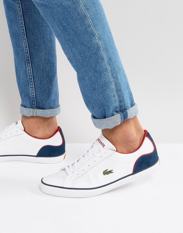 Lacoste Lerond Leather Trainers - White