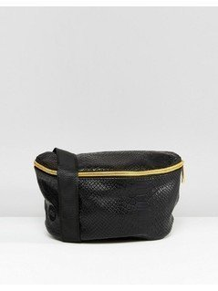 Mi-Pac Python Faux Leather Bumbag - Black