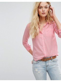 Hollister Gingham Shirt - Pink